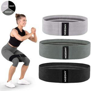 Resistance Bands for Legs and Butt Non Slip Fabric
